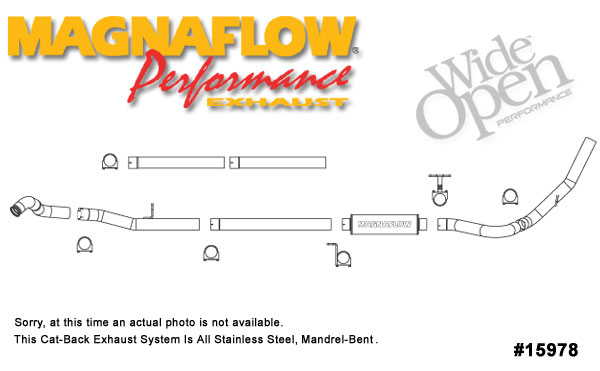 Magnaflow 15978:  Exhaust System for FORD 6.0L POWERSTROKE DIESEL, 4in. SYSTEM 2003-2004