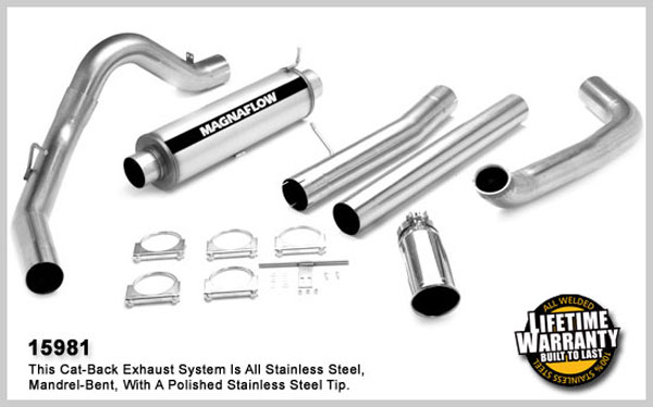 Magnaflow 15981:  Exhaust System for FORD 7.3L EXCURSION POWERSTROKE DIESEL 2000-2003