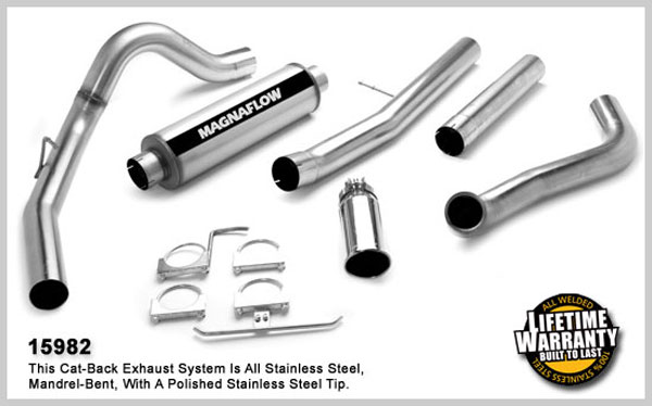 Magnaflow 15982:  Exhaust System for FORD 6.0L EXCURSION POWERSTROKE DIESEL 2003-2005