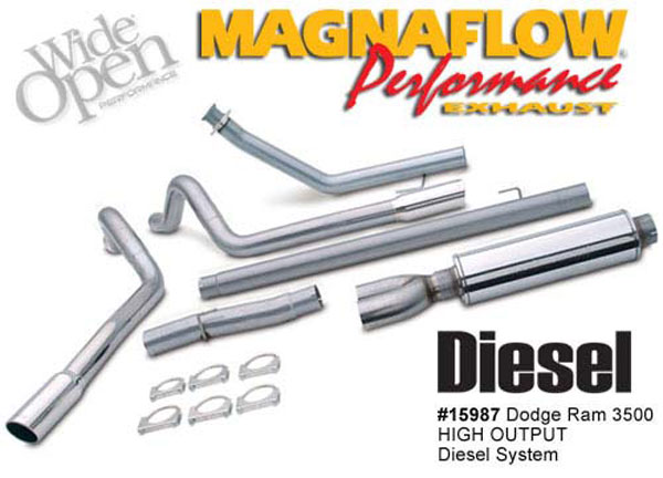 Magnaflow 15987:  Exhaust System for DODGE CUMMINS DIESEL 5 IN. HIGH-OUTPUT 2004-2007