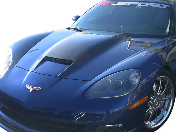RKSport 16011004 | RAM AIR Hood for Corvette C6 with Carbon Fiber Blister; 2005-2013