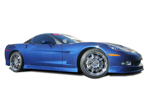 RKSport 16012000 |  4-Piece Ground Effects Package for Corvette C6; 2005-2009
