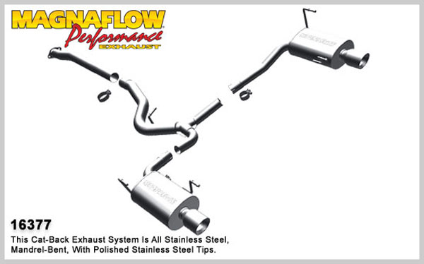 Magnaflow 16377:  Exhaust System for 2010 Subaru Legacy GT 2.5L