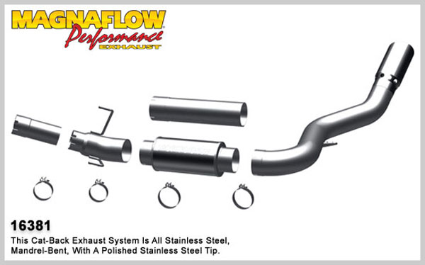 Magnaflow 16381:  Exhaust System for 2007-11 Ram 6.7L 5 inch XL