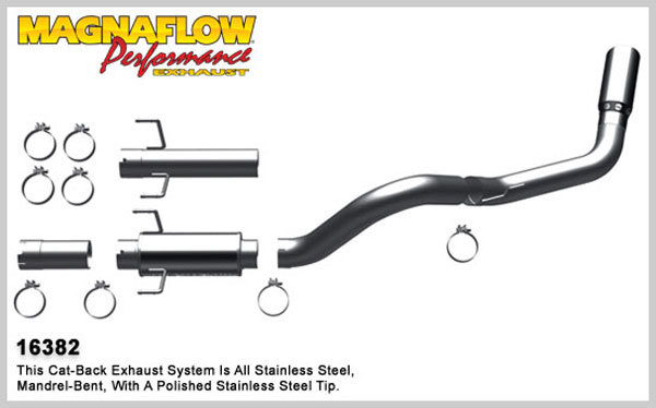 Magnaflow 16382:  Exhaust System for 2007-11 Ram 6.7L 4 inch MFP