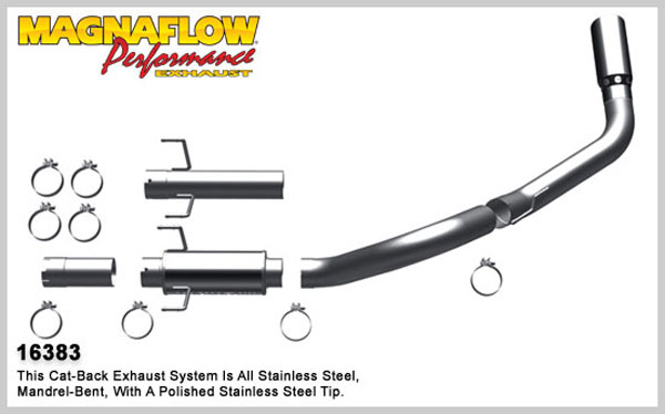 Magnaflow 16383:  Exhaust System for 2007-11 Ram 6.7L 4 inch XL