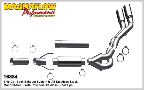 Magnaflow 16384:  Exhaust System for 2007-11 Ram 6.7L Dual MFP