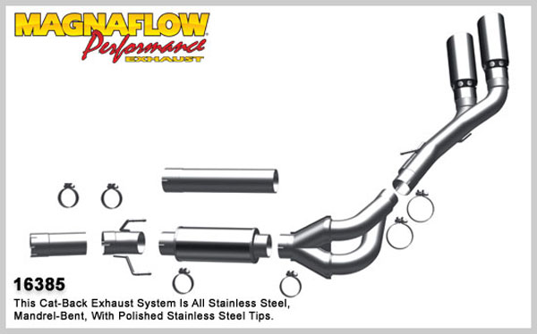 Magnaflow 16385:  Exhaust System for 2007-11 Ram 6.7L Dual XL