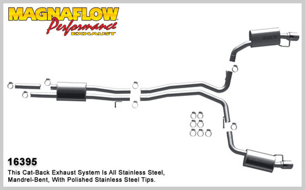 Magnaflow 16395:  Exhaust System for 2010 Ford Flex 3.5L AWD