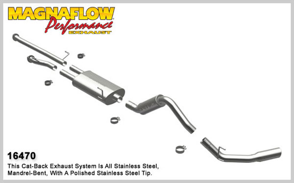 Magnaflow 16470:  Exhaust System for 2010 Toyota Tundra 4.6L Single
