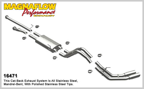 Magnaflow 16471:  Exhaust System for 2010 Toyota Tundra 4.6L Dual Side