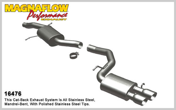 Magnaflow 16476:  Exhaust System for 2010 Audi A5 2.0L Touring