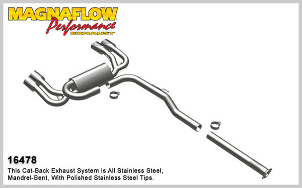 Magnaflow 16478:  Exhaust System for 2010 Hyundai Genesis 2.0L Coupe