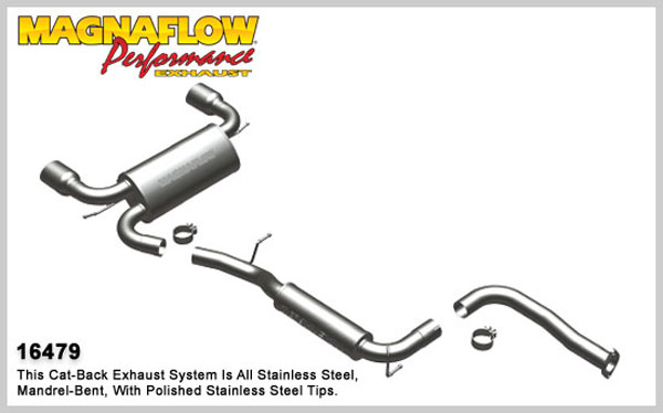 Magnaflow 16479:  Exhaust System for 2008-09 Volvo C30 T5 2.5L