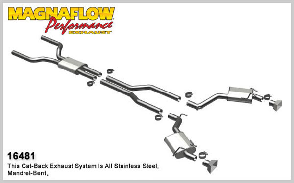 Magnaflow 16481:  Exhaust System for 2010-13 Camaro 6.2L GMPP STREET