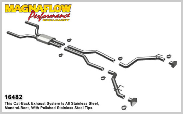 Magnaflow 16482:  Exhaust System for 2010-13 Camaro 6.2L GMPP COMP S