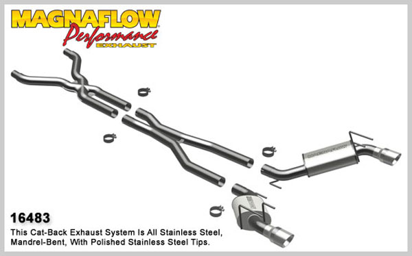 Magnaflow 16483:  Camaro 2010-13 V8 Full 3 inch Exhaust System - Competition Series