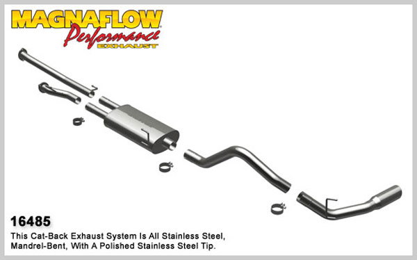 Magnaflow 16485:  Exhaust System for 8/08-09 Toyota Tundra 5.7 EC-CC/SB