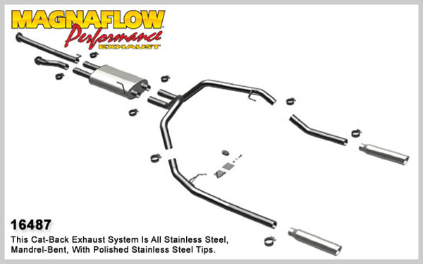 Magnaflow 16487:  Exhaust System for 8/08-09 Toyota Tundra 5.7 EC-CC/SB