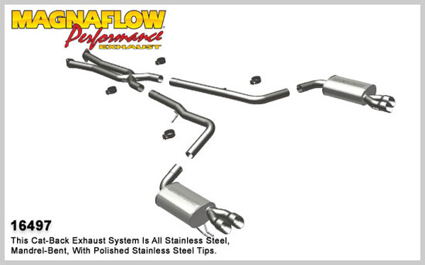 Magnaflow 16497:  Exhaust System for 2009 Hyundai Genesis 4.6L Sedan