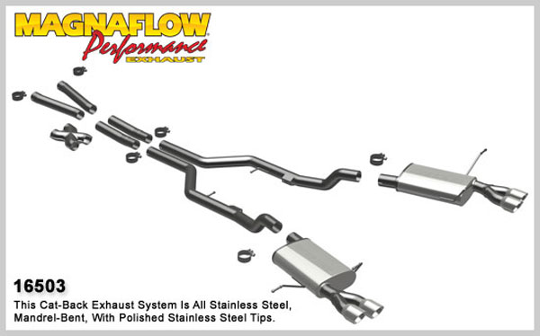 Magnaflow 16503:  Exhaust System for 2003-07 Maserati Coupe / GranSp