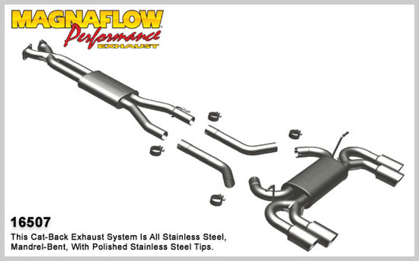 Magnaflow 16507:  Exhaust System for 2010 Hyundai Genesis Coupe 3.8
