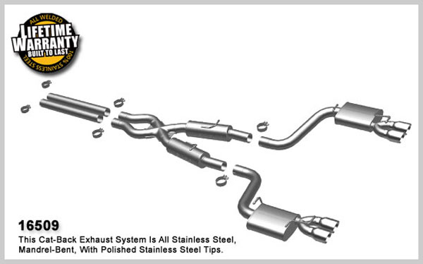 Magnaflow 16509:  Exhaust System for 2008-09 Challenger SRT8 quad