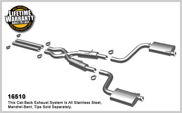 Magnaflow 16510:  Exhaust System for 2008-13 Challenger SRT8 to OEM Tips