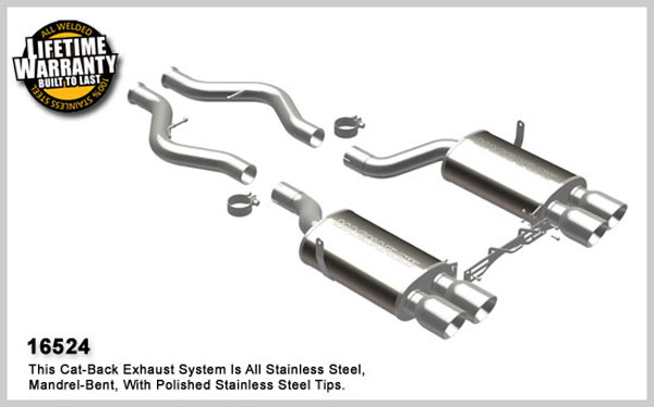 Magnaflow 16524:  Exhaust System for 2008-09 BMW M3 Sedan 4.0L