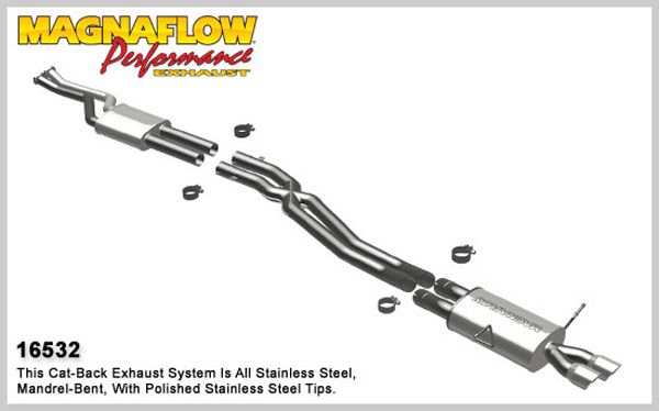 Magnaflow 16532:  Exhaust System for 1998-00 BMW 323 2.5LL
