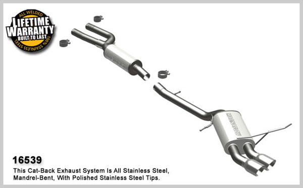 Magnaflow 16539:  Exhaust System for 2006-07 BMW 330i 3.0L