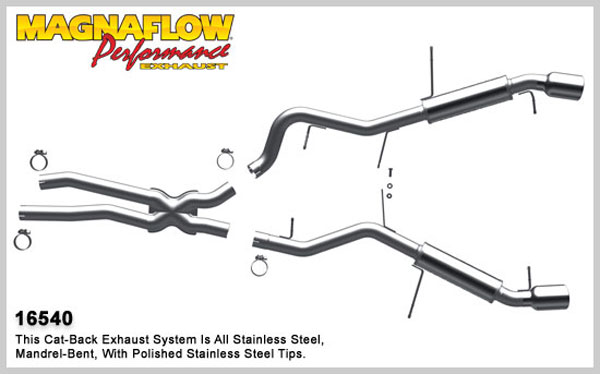 Magnaflow 16540:  Exhaust System for 2007-08 BMW 335i / ix 3.0L
