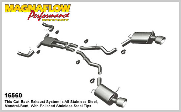 Magnaflow 16560:  Exhaust System for 2004-08 BMW 645 / 650