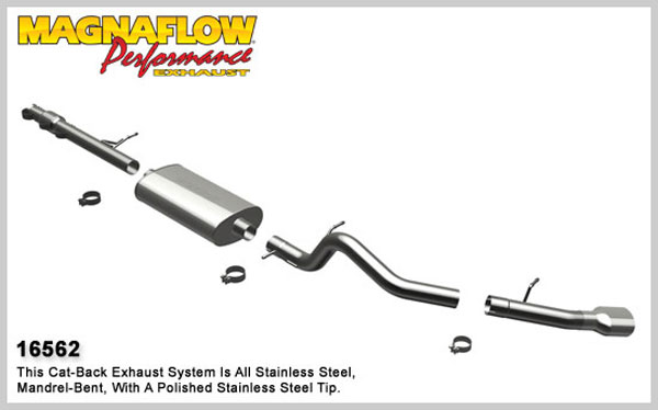 Magnaflow 16562:  Exhaust System for 2009 Avalanche 1500 5.3L Single Side Exit