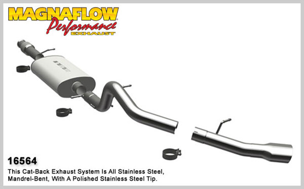 Magnaflow 16564:  Exhaust System for 2009 Tahoe/Yukon 4.8L 5.3L Single Side Exit