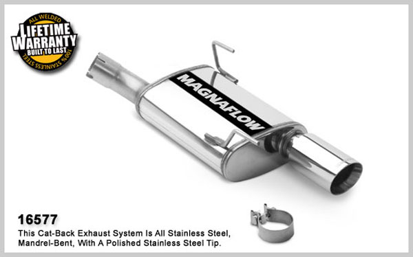 Magnaflow 16577:  2010 Mustang V6 Exhaust System SINGLE REAR EXIT