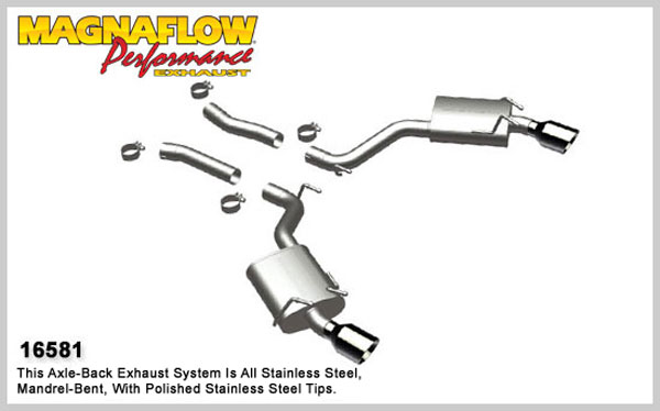 Magnaflow 16581:  Camaro 2010-13 V8 Axle-Back Exhaust System - Street Series