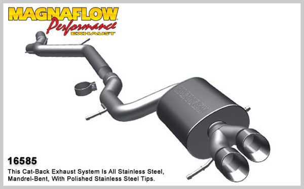 Magnaflow 16585:  Exhaust System for 2000-02 Audi A4 / S4 2.7L