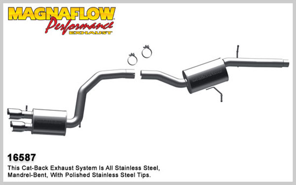 Magnaflow 16587:  Exhaust System for 2009 Audi A4 2.0T FWD
