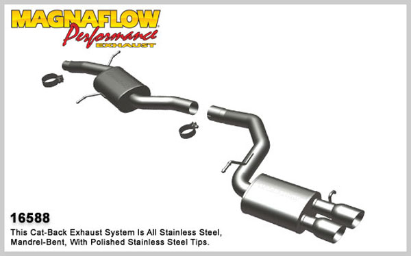 Magnaflow 16588:  Exhaust System for 2009- Audi A4 2.0T AWD Sedan