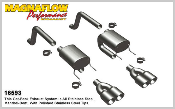 Magnaflow 16593:  Exhaust System for 2009 Corvette 6.2L Axl-Back