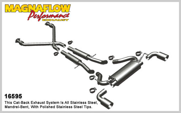 Magnaflow 16595:  Exhaust System for 2009 3.7L Nissan 370Z