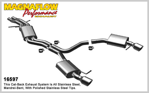 Magnaflow 16597:  Exhaust System for 2009 Audi A5 3.2L V6 Coupe