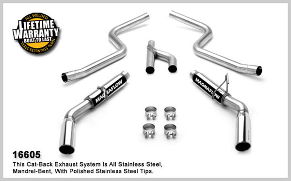 Magnaflow 16605:  Exhaust System for FORD MUSTANG V6 2005-2009