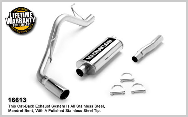 Magnaflow 16613:  Exhaust F-150 2005-08 4.6L, 5.4L Standard Cab, Short Bed, Single Side Exit