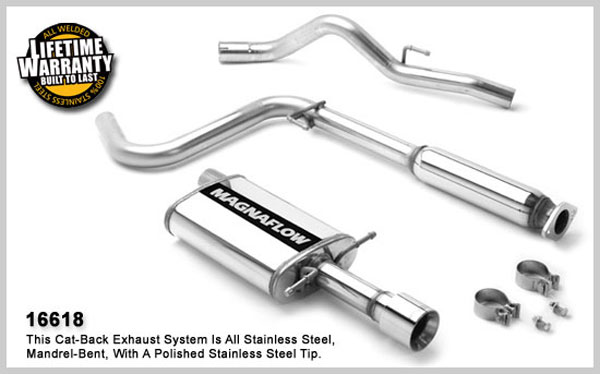 Magnaflow 16618: MagnaFlow Exhaust System for Cobalt 2005 2.2L I-4, Sedan