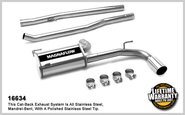 Magnaflow 16634:  Exhaust System for 2007- Dodge Caliber 2.4L I-4