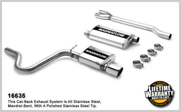 magnaflow 16635  exhaust system for dodge charger    magnum se 2006