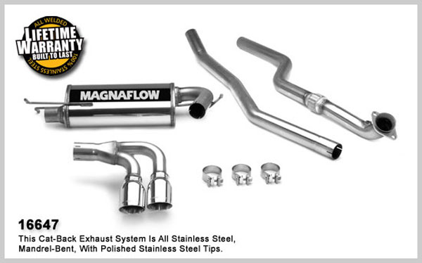 Magnaflow 16647:  Exhaust System for System C/B 2007- Saturn Sky 2.4L I-4