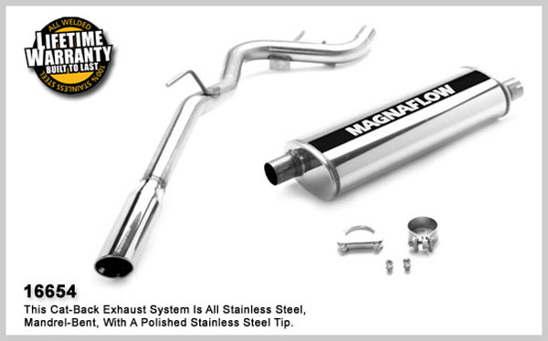 Magnaflow 16654:  Exhaust System for NISSAN TRUCK XTERRA OFF-ROAD 2005-2007